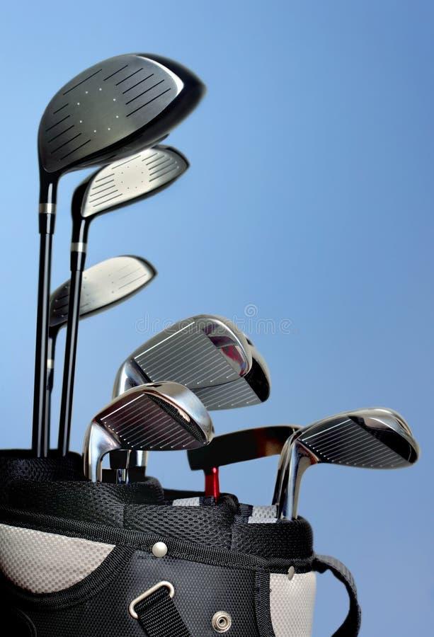 袋子高尔夫球 免版税图库摄影
