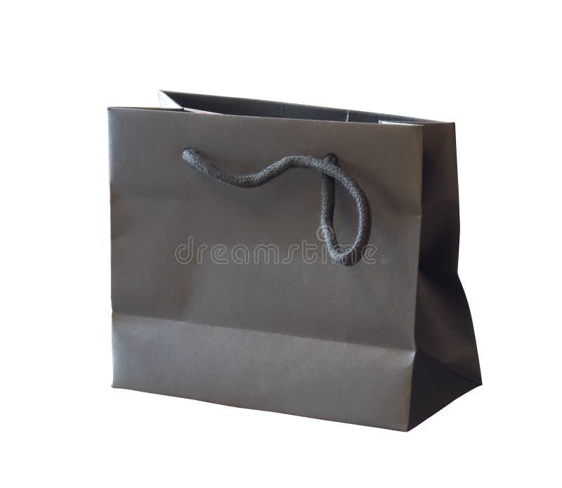 袋子黑色查出的纸张 免版税库存图片