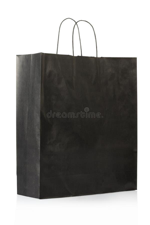 袋子黑色纸张 免版税库存照片