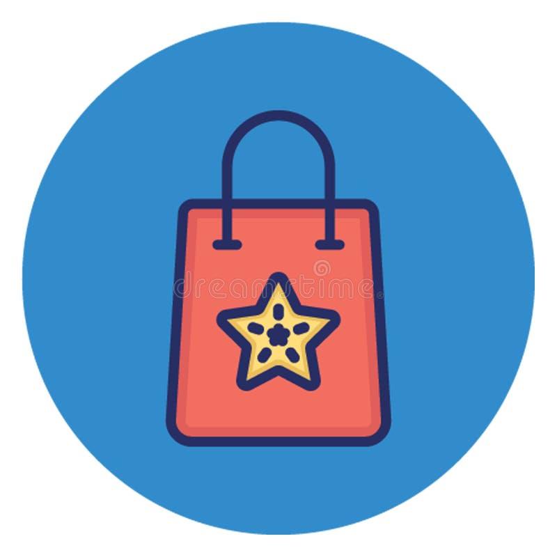 袋子,可能容易地编辑的传染媒介象 皇族释放例证