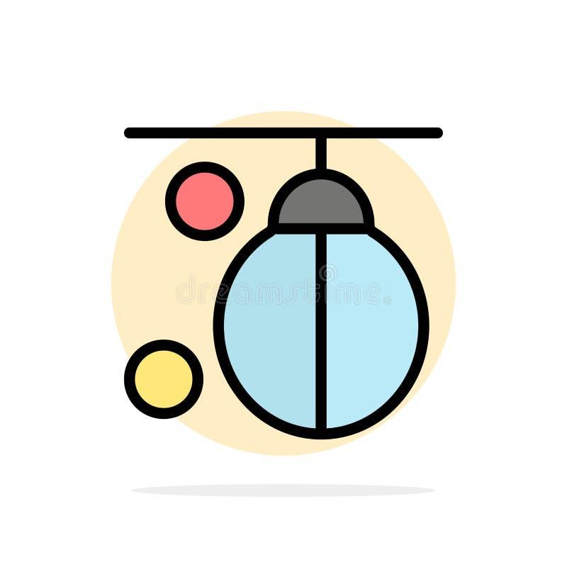 袋子,拳击手,拳击,猛击,训练抽象圈子背景平的颜色象 向量例证