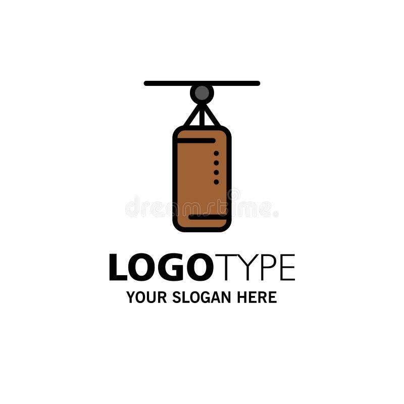 袋子,拳击,沙袋,猛击的企业商标模板 o 库存例证
