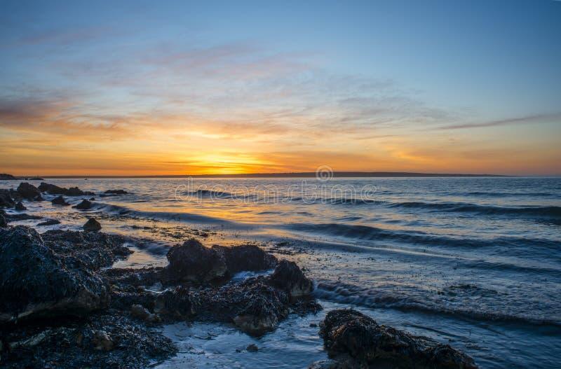 袋鼠海岛海岸线 免版税库存照片