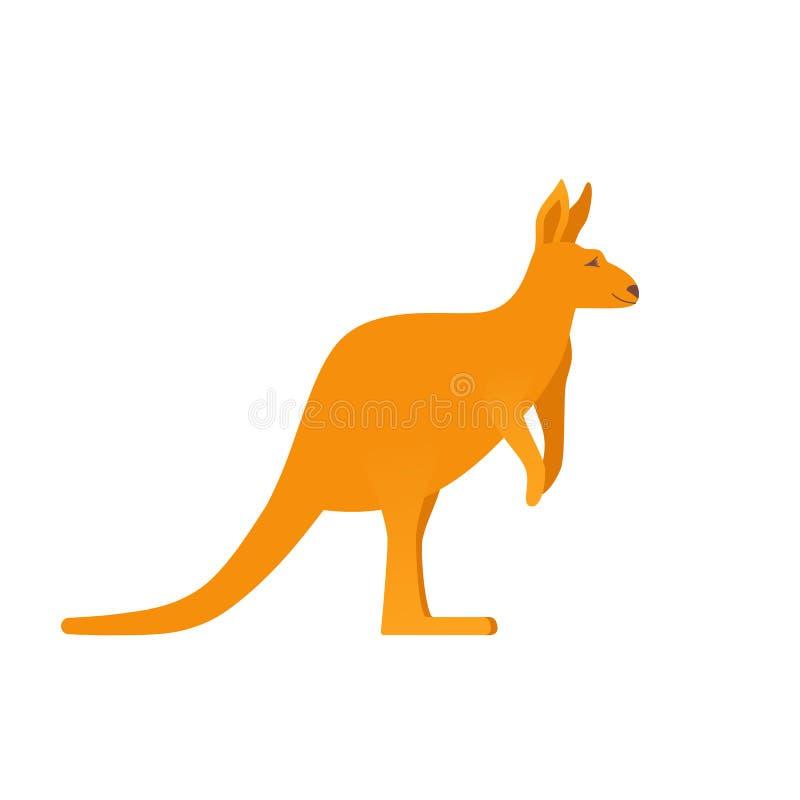 袋鼠象 也corel凹道例证向量 澳大利亚的标志平的设计的 向量例证