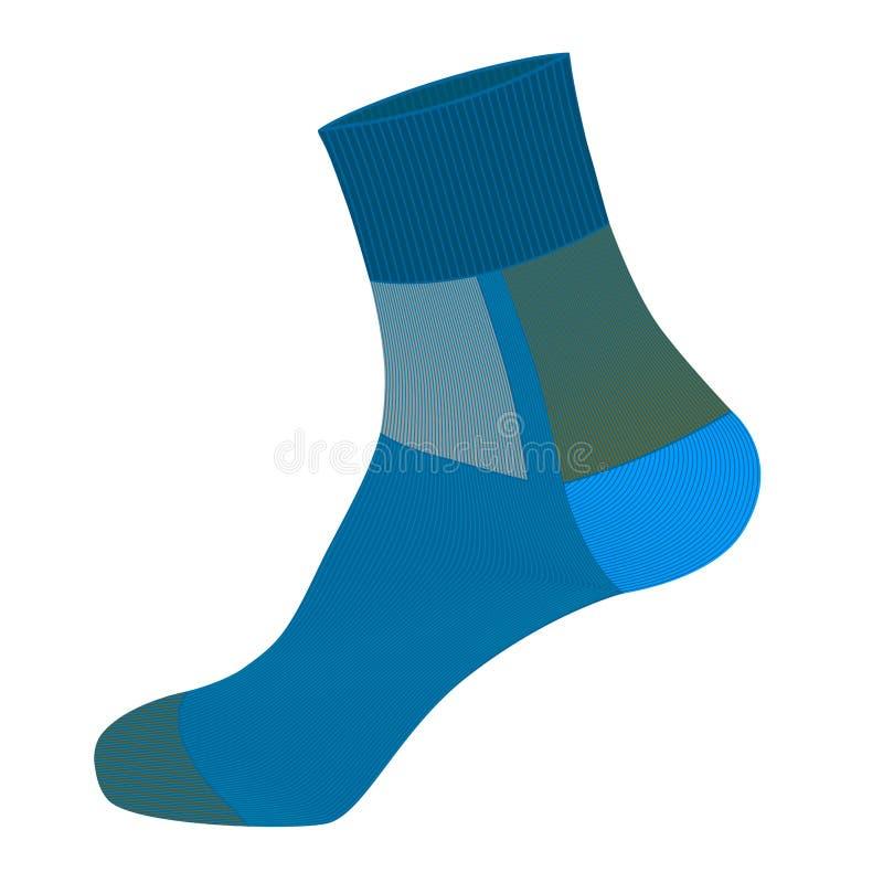 袜子在白色背景 向量例证
