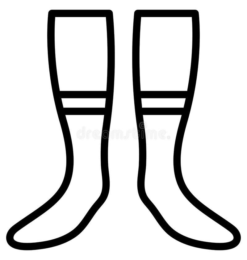 袜子,可以容易地修改或编辑的内衣传染媒介 向量例证