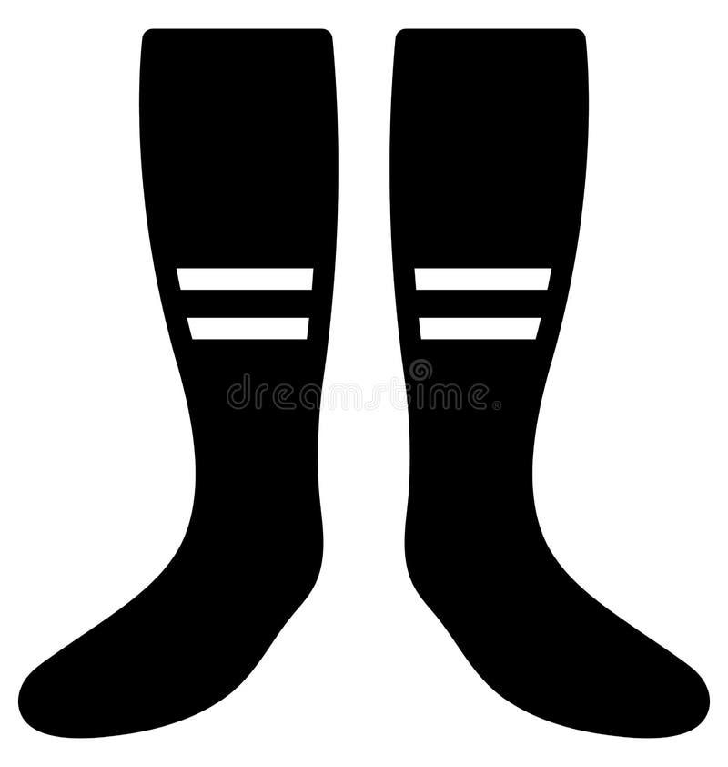 袜子,可以容易地修改或编辑的内衣传染媒介 库存例证
