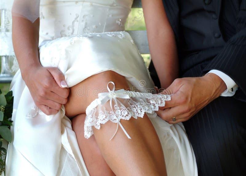 袜带婚礼 库存照片