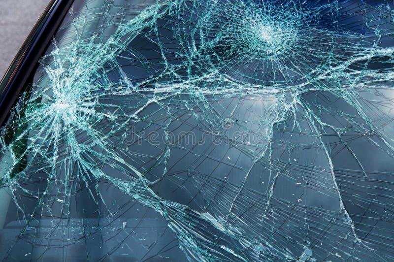 被中断的汽车玻璃 库存图片