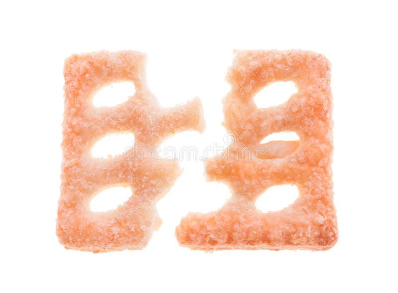 被中断的饼干 免版税库存照片