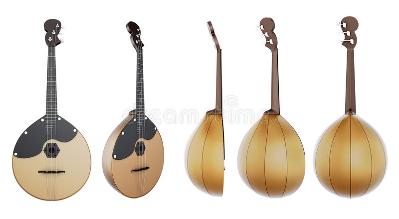 被串起的乐器Domra 皇族释放例证