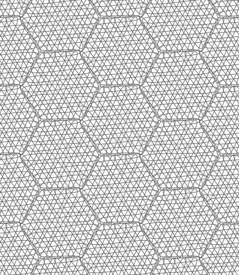 被乱写的亭亭玉立的灰色六角形 向量例证