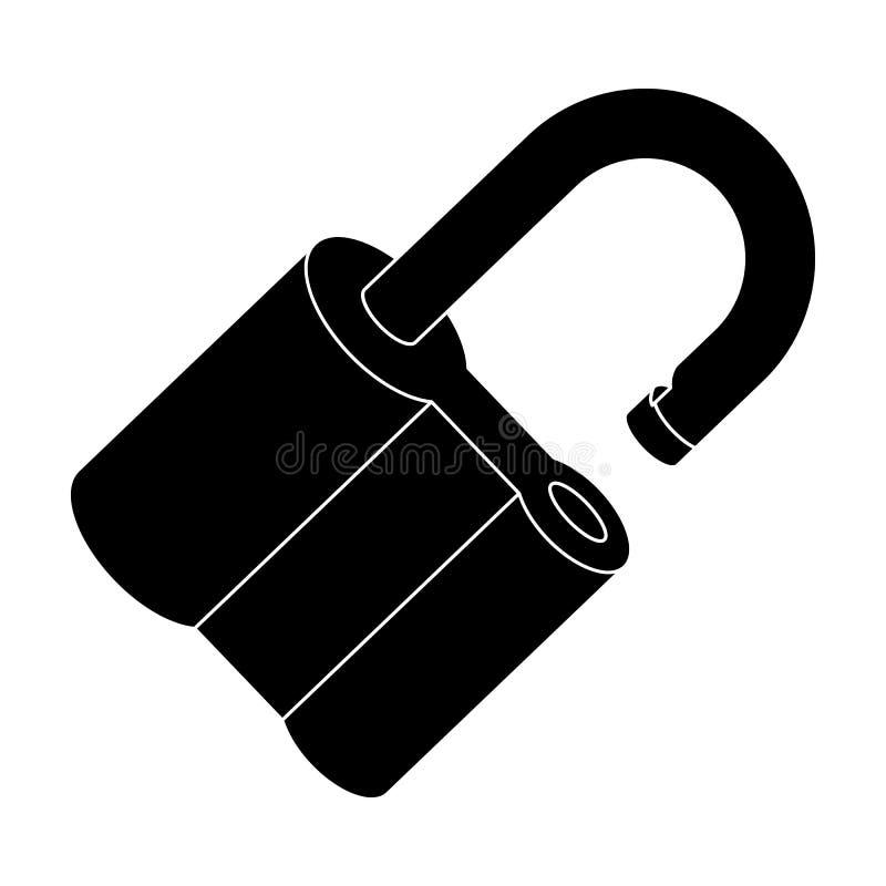 被乱砍的挂锁 开创者的挑战能解决罪行 侦探唯一象在布雷克样式传染媒介标志 向量例证