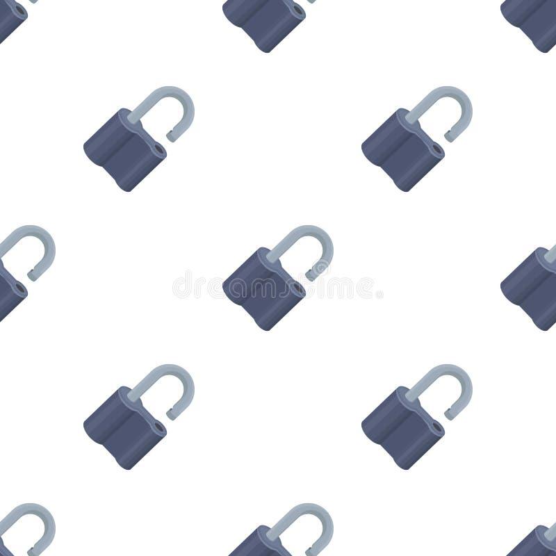 被乱砍的挂锁 开创者的挑战能解决罪行 在动画片样式传染媒介标志的侦探唯一象 库存例证