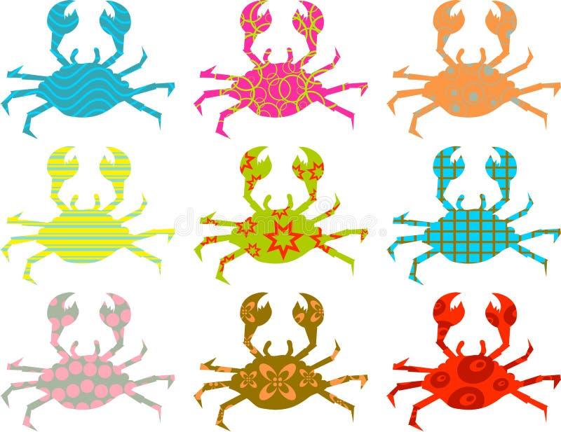 被仿造的螃蟹 皇族释放例证