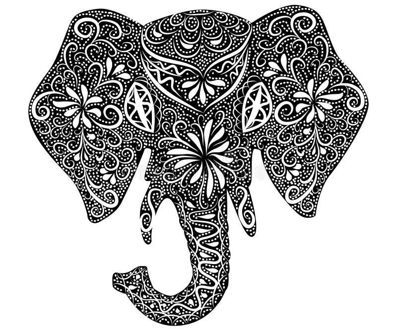 被传统化的幻想仿造了大象 r 向量例证