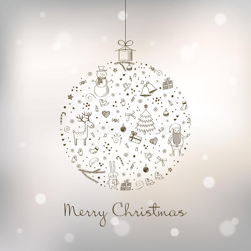 被传统化的球圣诞节 库存例证