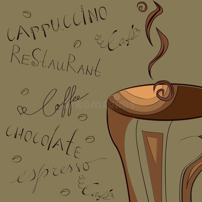 被传统化的背景咖啡 皇族释放例证