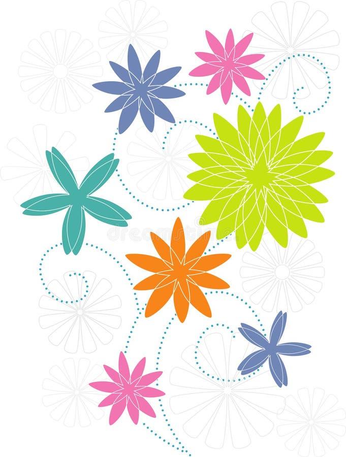 被传统化的花主题 库存例证