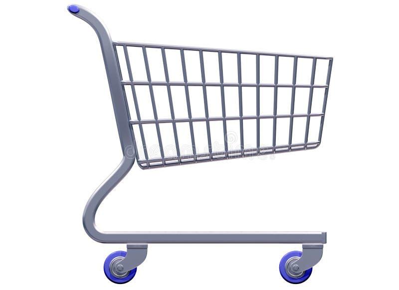 被传统化的购物车购物 向量例证
