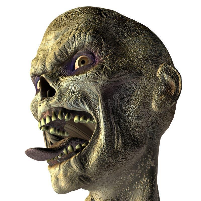 被伸出的舌头僵死 向量例证