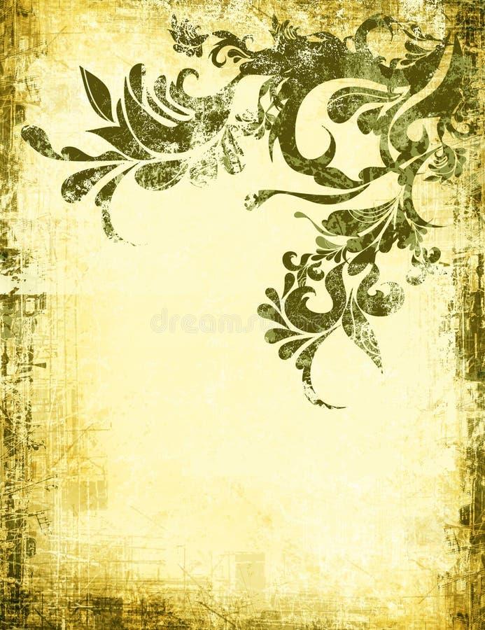 被佩带的古老脏的查找墙纸 库存例证