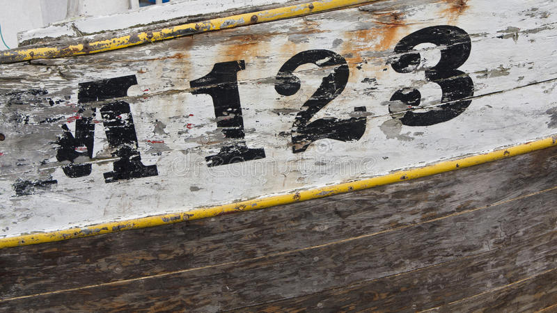 被佩带的捕鱼船 免版税库存照片