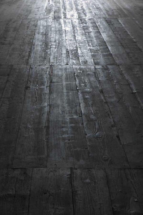 被佩带的楼层老木 免版税图库摄影