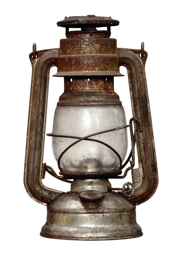 被佩带的煤油灯时间 库存图片