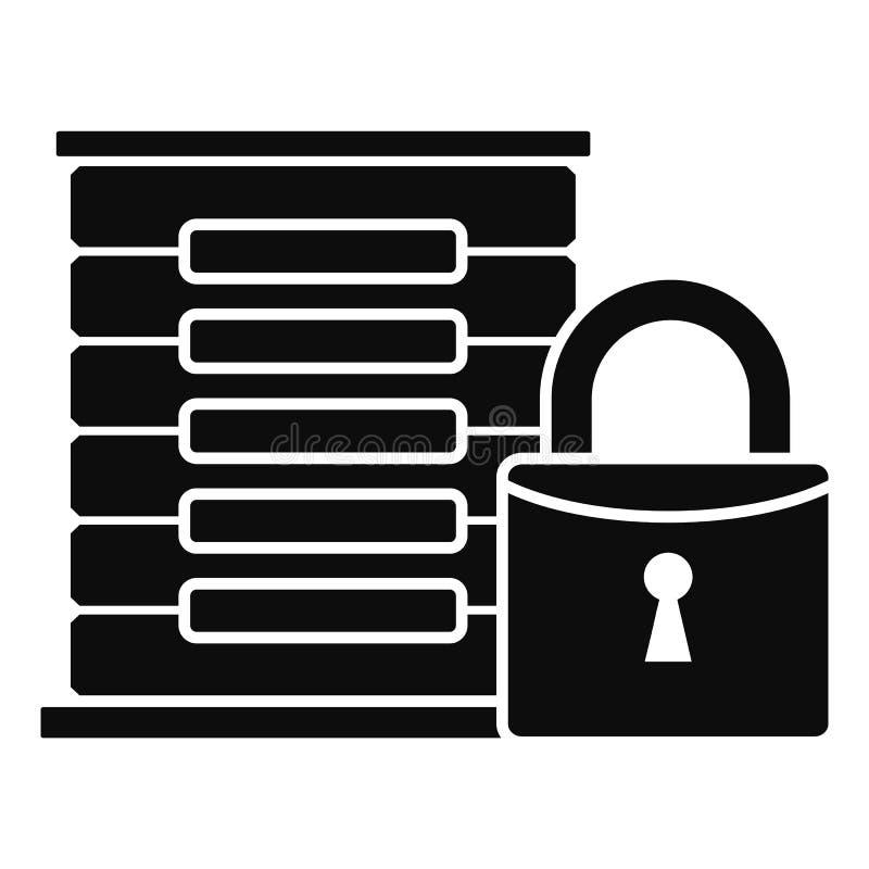 被保护的服务器象,简单的样式 库存例证