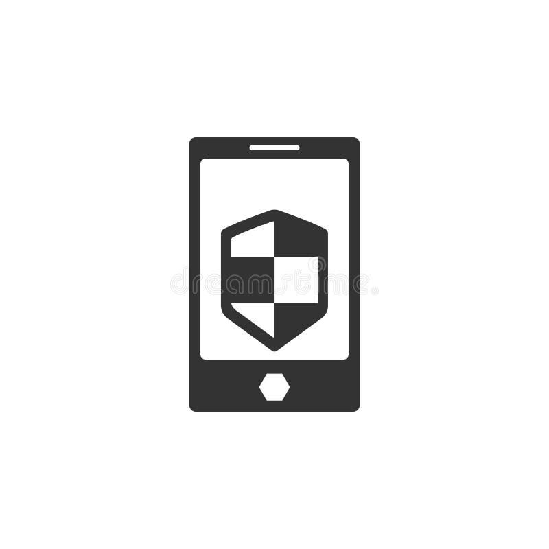 被保护的电话象 互联网流动概念和网应用程序的安全象的元素 可以使用详述的被保护的电话象 库存例证