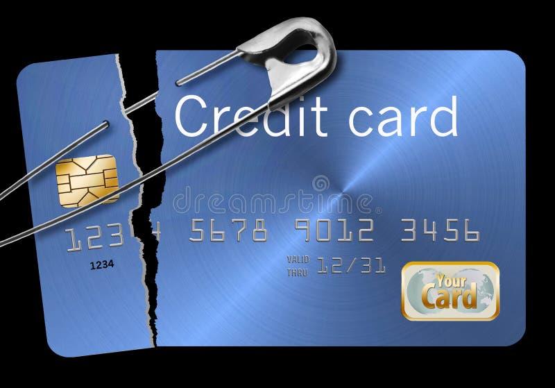 被修理的信用卡 皇族释放例证