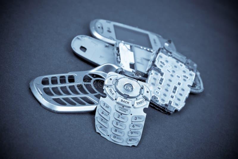 被修理的电池获得电话您 库存图片