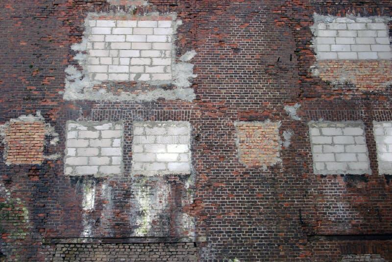 被修补的墙壁 库存照片