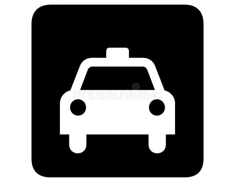 被倒置的出租汽车 向量例证