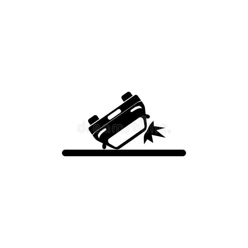 被倒置的汽车象 保险象的元素 优质质量图形设计 标志和标志汇集象网站的,网 皇族释放例证