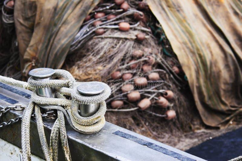 被停泊的渔船 库存图片