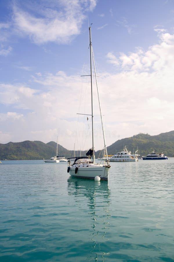被停泊的风船 免版税库存图片