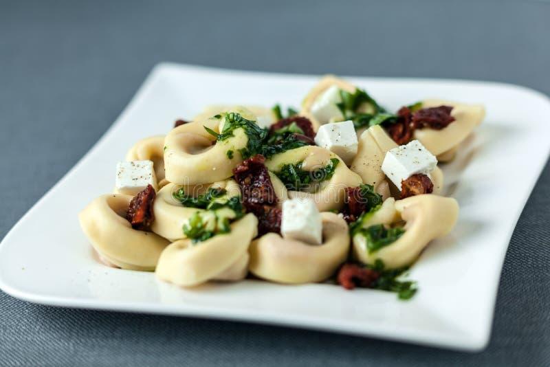 被充塞的意大利式饺子意大利人面团 图库摄影