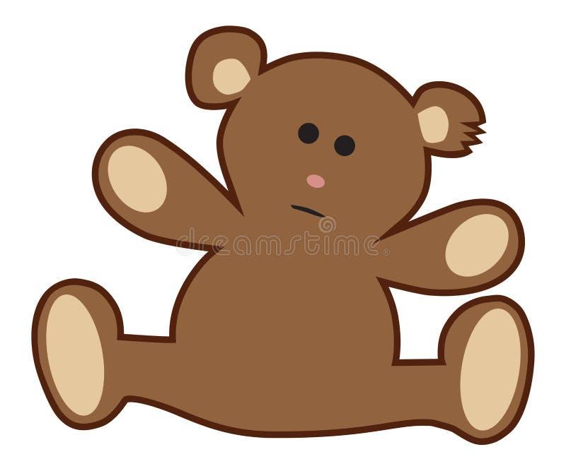 被充塞的玩具熊需要拥抱 皇族释放例证