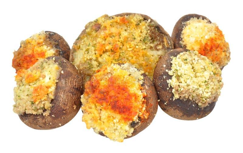 被充塞的蘑菇 免版税库存图片