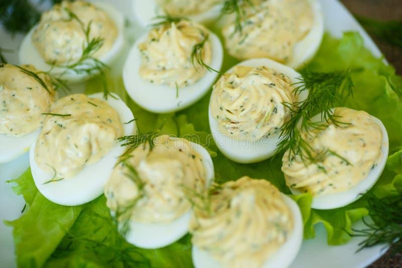 被充塞的鸡蛋 免版税库存图片
