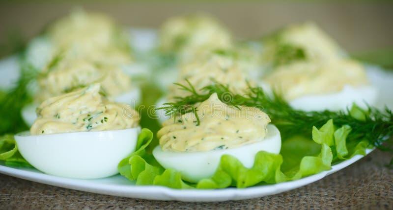 被充塞的鸡蛋 库存照片