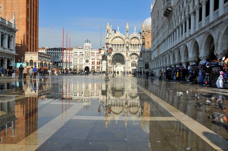 被充斥的威尼斯 免版税图库摄影