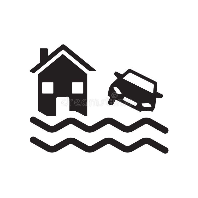 被充斥的房子象 在白色b的时髦被充斥的房子商标概念 库存例证