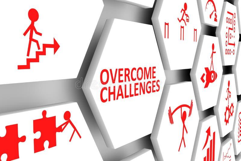 被克服的挑战概念细胞背景 向量例证