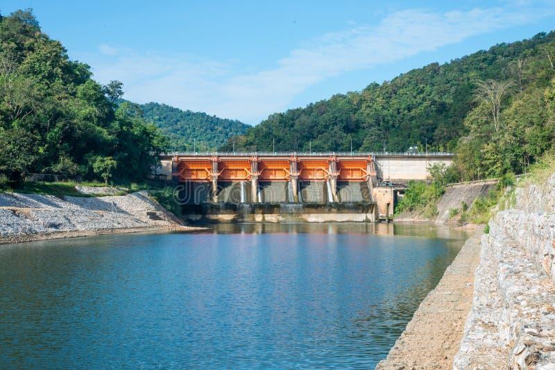 被关闭的水坝 免版税库存照片