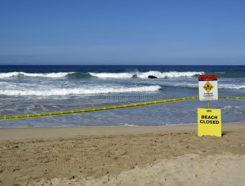 被关闭的海滩 库存图片