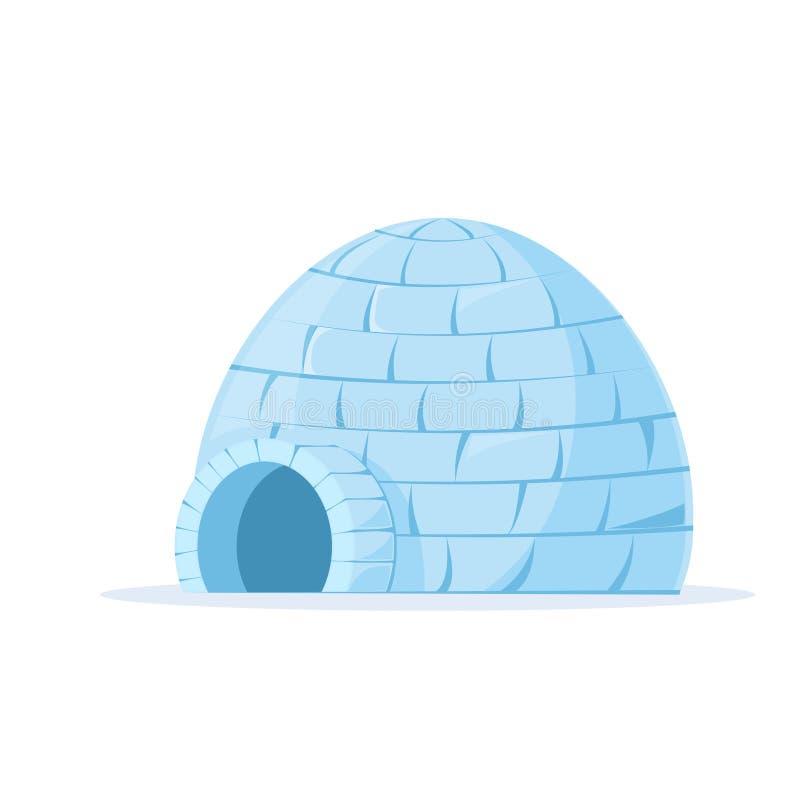 被冰的园屋顶的小屋传染媒介 向量例证