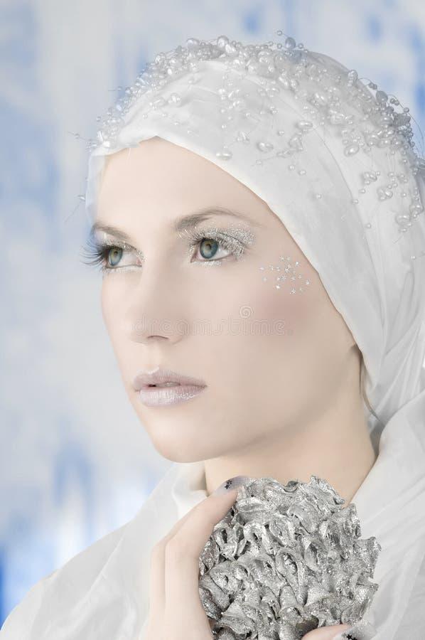 被冰的妇女 免版税库存照片